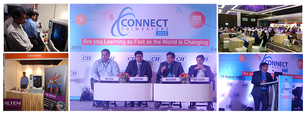 "Altem Technologies, Director Srinivas Shastry speaks at CII Conference in Coimbatore on ""Empowering Disruptive Manufacturing"""